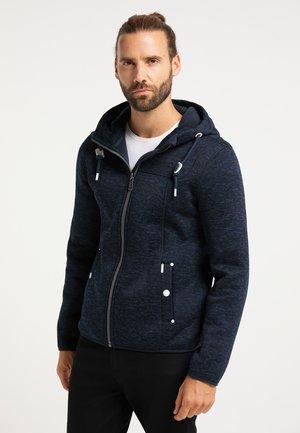 Zip-up hoodie - dunkemarine melange