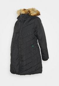 Modern Eternity - LEXIE LENGTH CHEVRON PUFFER MATERNITY - Winter coat - black - 0