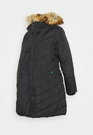 LEXIE LENGTH CHEVRON PUFFER MATERNITY - Abrigo de invierno - black