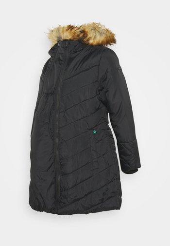 LEXIE LENGTH CHEVRON PUFFER MATERNITY - Winter coat - black