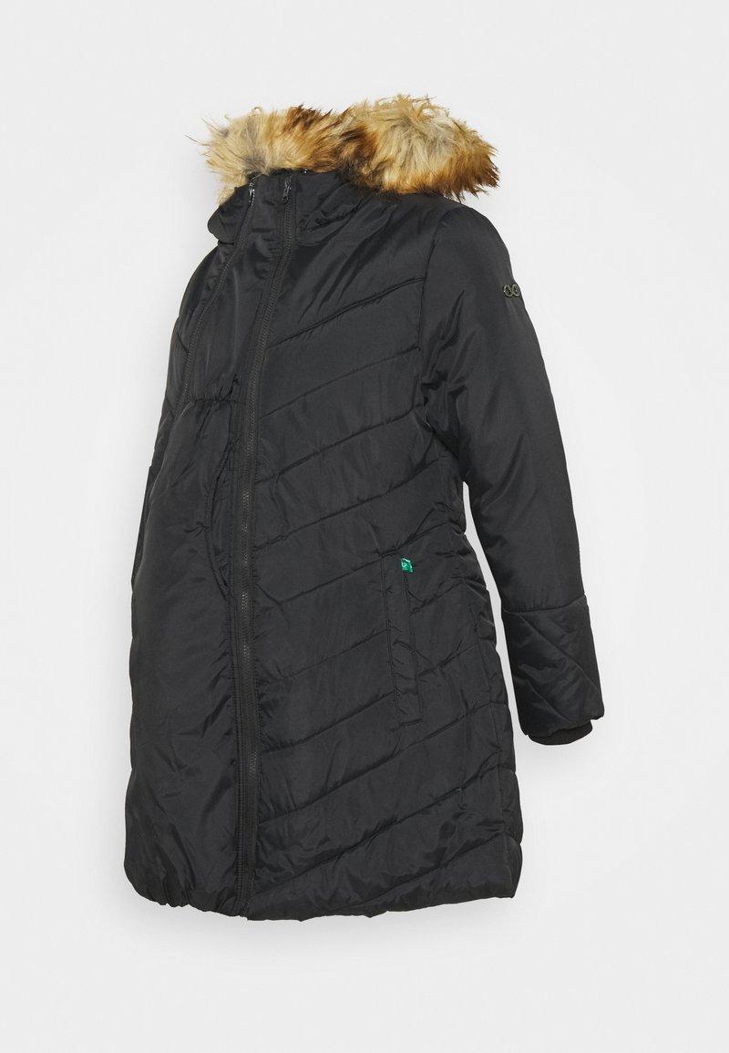 Modern Eternity - LEXIE LENGTH CHEVRON PUFFER MATERNITY - Winter coat - black