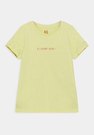 PENELOPE SHORT SLEEVE TEE - Print T-shirt - lemon drop