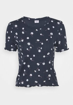 LITTLE SISTER POINTELLE TEE - Print T-shirt - midnight festival