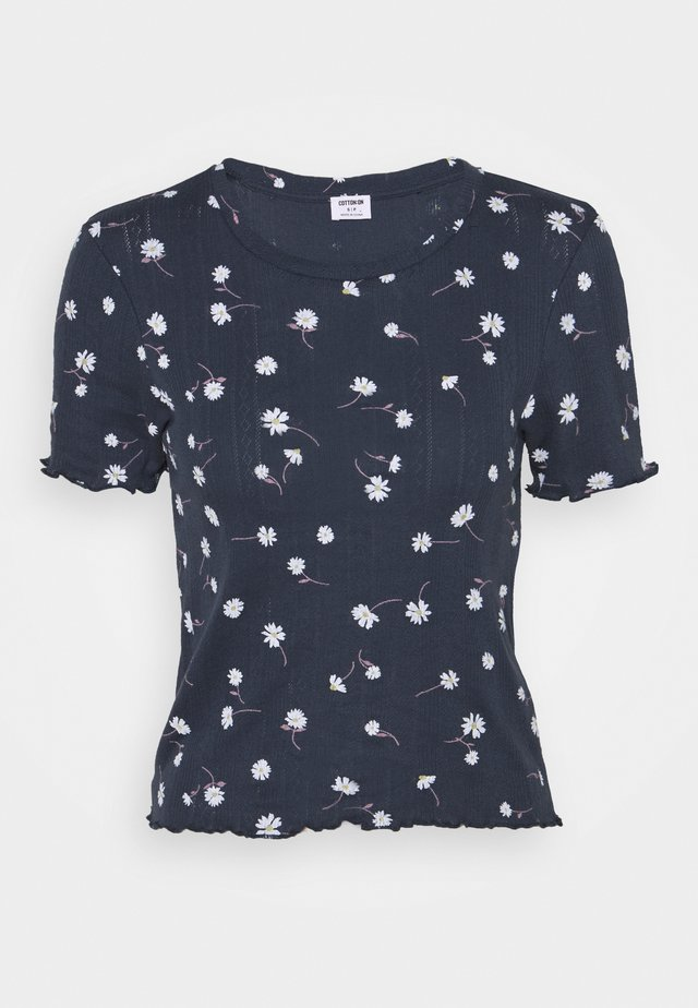 LITTLE SISTER POINTELLE TEE - T-shirt print - midnight festival