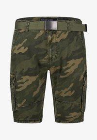 INDICODE JEANS - BLIXT - Shorts - mottled dark green - 5
