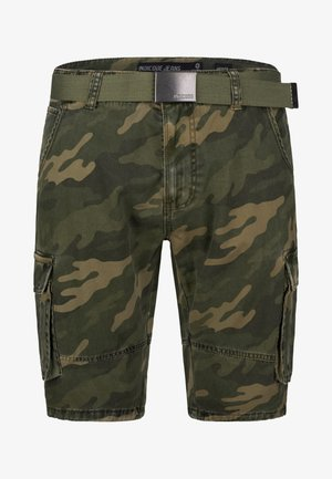 BLIXT - Shorts - mottled dark green
