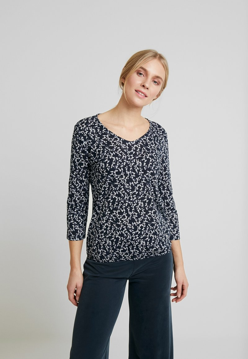 TOM TAILOR - Long sleeved top - navy blue