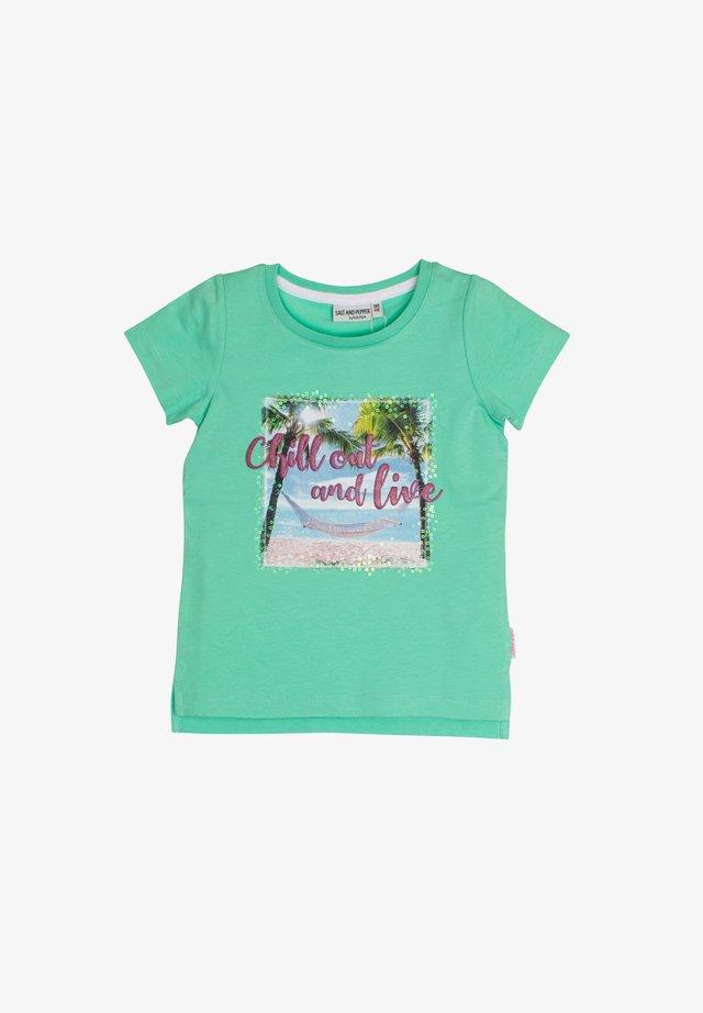 Print T-shirt - apple green