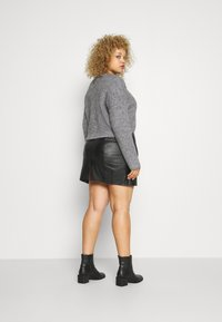 Even&Odd - CROPPED WOOL BLEND JUMPER - Jumper - mottled grey - 2