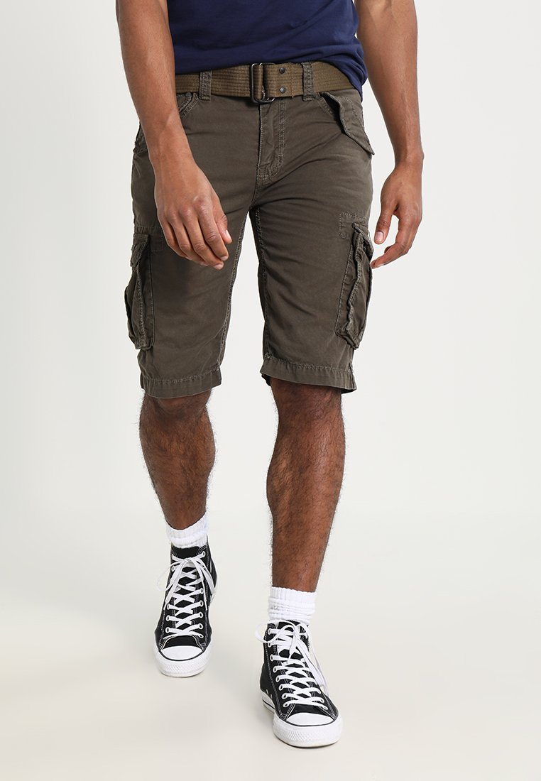 Schott - BATTLE - Shorts - olive