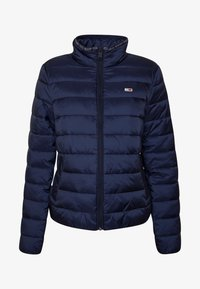 Tommy Jeans - QUILTED ZIP THRU - Light jacket - twilight navy - 4