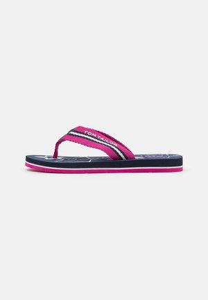 T-bar sandals - pink/navy