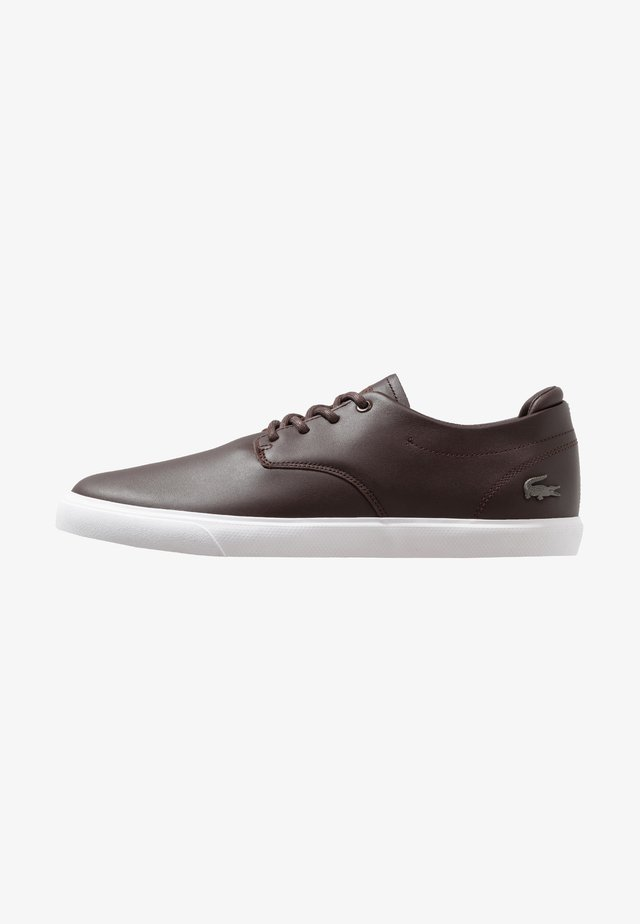 ESPARRE - Sneakers laag - dark brown/white