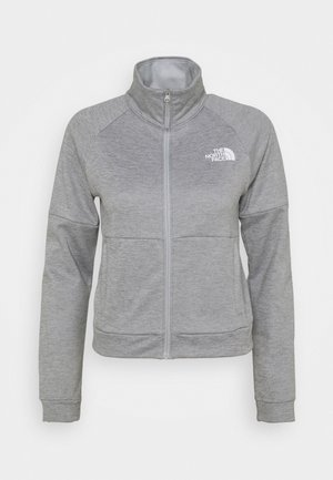 FULL ZIP JACKET - Fleece jacket - light grey heather