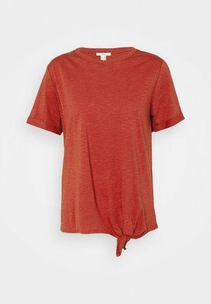TIE TEE - Print T-shirt - terracotta