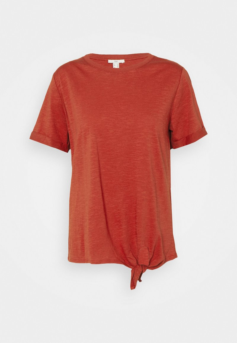 edc by Esprit - TIE TEE - Print T-shirt - terracotta