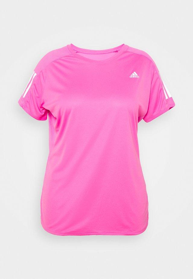 OWN THE RUN TEE - Print T-shirt - pink