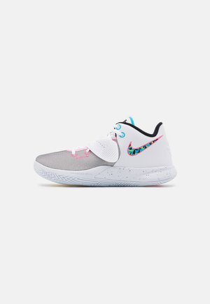 KYRIE FLYTRAP III - Basketball shoes - white/black/blue fury/optic yellow/digital pink
