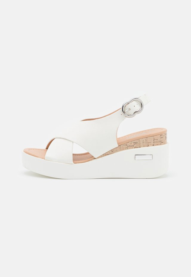 SUNDIAL - Sandales à plateforme - white