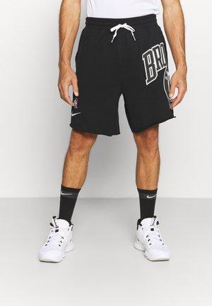 NBA BROOKLYN NETS SHORT - Pantaloncini sportivi - black/white