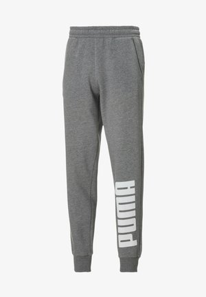 Tracksuit bottoms - medium gray heather-white
