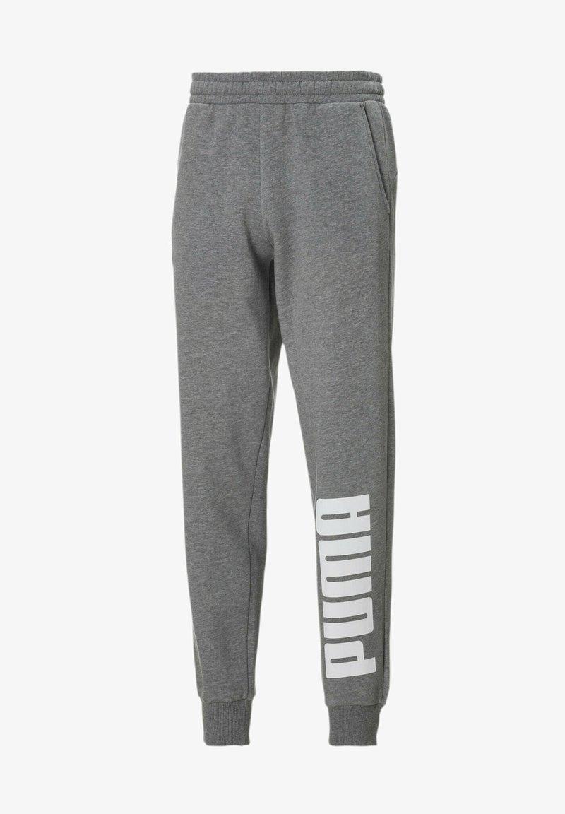 Puma - Tracksuit bottoms - medium gray heather-white