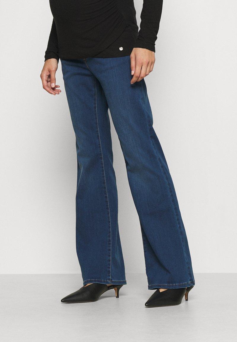 Pietro Brunelli - GRADUATED - Flared Jeans - medium stoned wash