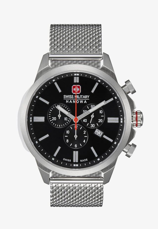 CLASSIC - Chronograph watch - silver/black