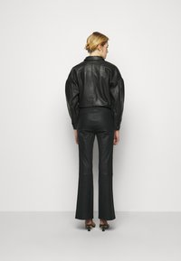 2nd Day - MAUSER - Leather trousers - black - 2