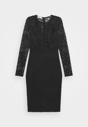 ANALIA LONG SLEEVE MIDI DRESS - Koktejlové šaty/ šaty na párty - black