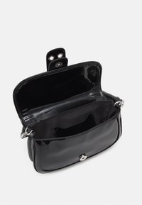 Topshop - PATENT 90S SHOULDER - Handbag - black - 2