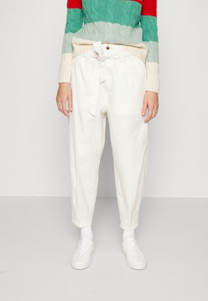 ANKLE FLAT FRONT - Trousers - ranch cream