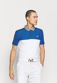 Calvin Klein Golf - TREVINO  - Polo shirt - white/nautical blue - 0