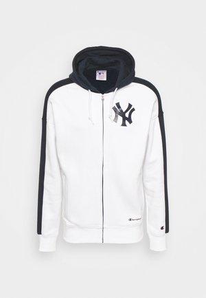 MLB NEW YORK YANKEES HOODED FULL ZIP - Vetoketjullinen college - white/navy