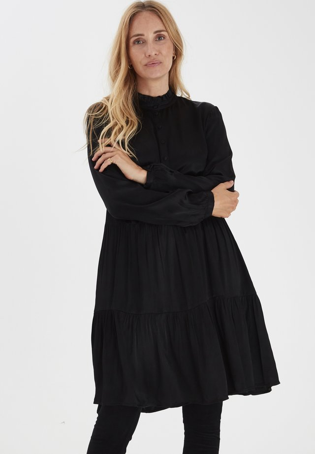 PULZ PZMILEY - Shirt dress - black beauty
