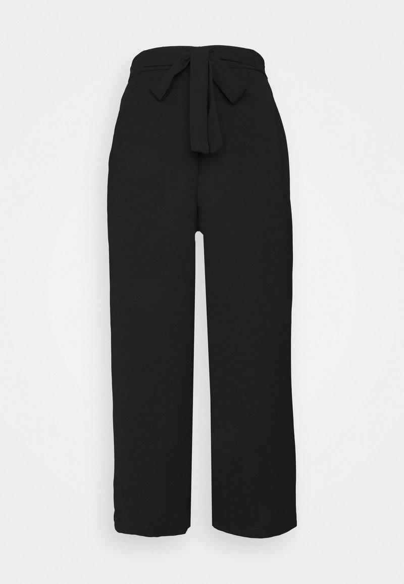 Pieces - PCKELLIE CULOTTE ANKLE PANT - Trousers - black