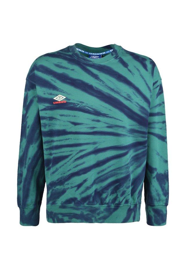 UMBRO CALIDOSCOPE HERREN - Sweater - bayou / ink / soft yellow / rio red
