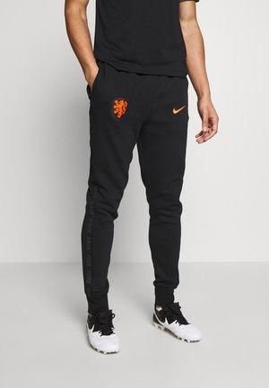 NIEDERLANDE KNVB PANT - National team wear - black/safety orange