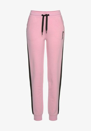 Tracksuit bottoms - rosa schwarz