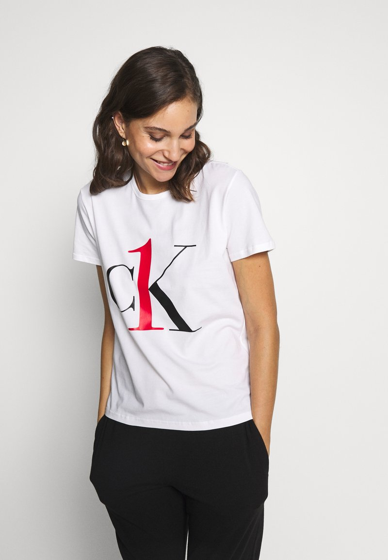 Calvin Klein Underwear - ONE CREW NECK - Camiseta de pijama - white red logo