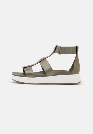 EEBA - Platform sandals - burnt olive