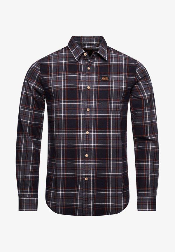 Superdry WORKWEAR - Koszula - grey check/szary Odzież Męska ZUOT