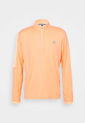 THREE STRIPE ZIP LEFT CHEST - Sweatshirt - acid orange melange