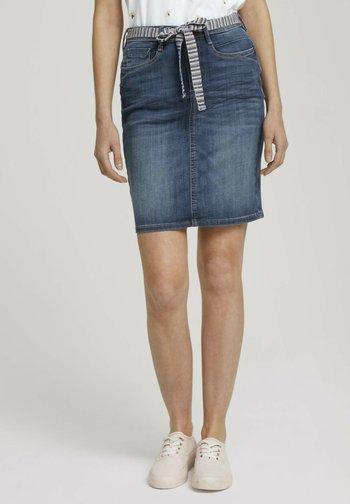 Denim skirt - used mid stone blue denim