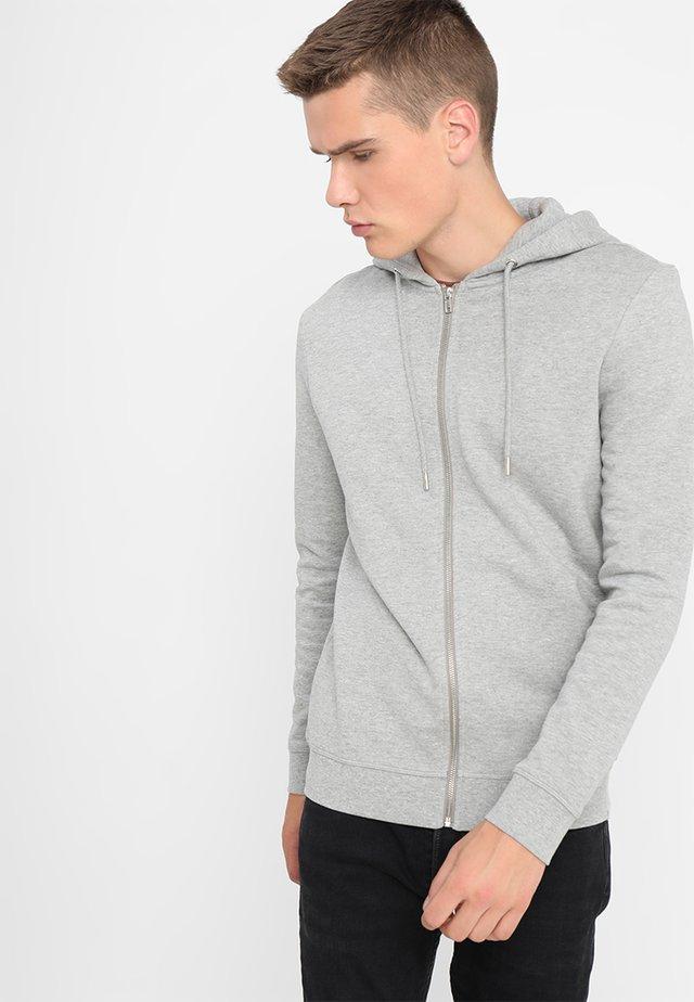 VILLE - Zip-up sweatshirt - light grey melange