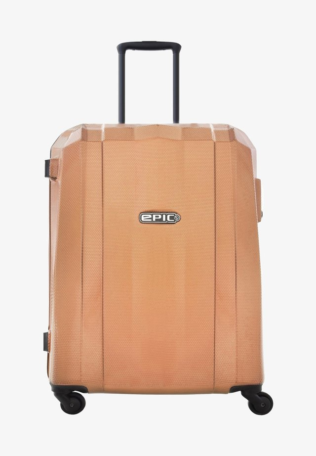 Wheeled suitcase - rose-goldcolored