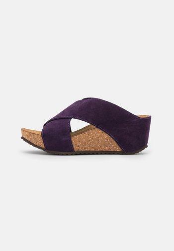 FRANCES EDITION - Heeled mules - purple