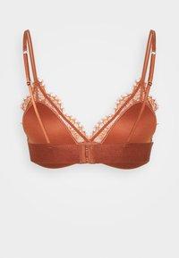 Lindex - BRA NORA BRALETTE - Triangle bra - dark dusty orange - 1