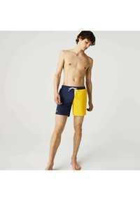 Lacoste - BAIN HOMME - Swimming shorts - bleu / vert kaki / jaune - 0