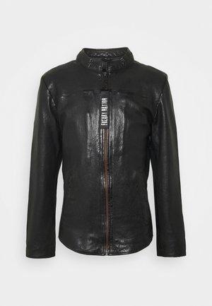 LAURENT - Leather jacket - black